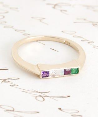 1909-ADORE-Ring-(14K-yellow-gold,-amethyst,-diamond,-opal,-ruby,-emerald)-$850-main