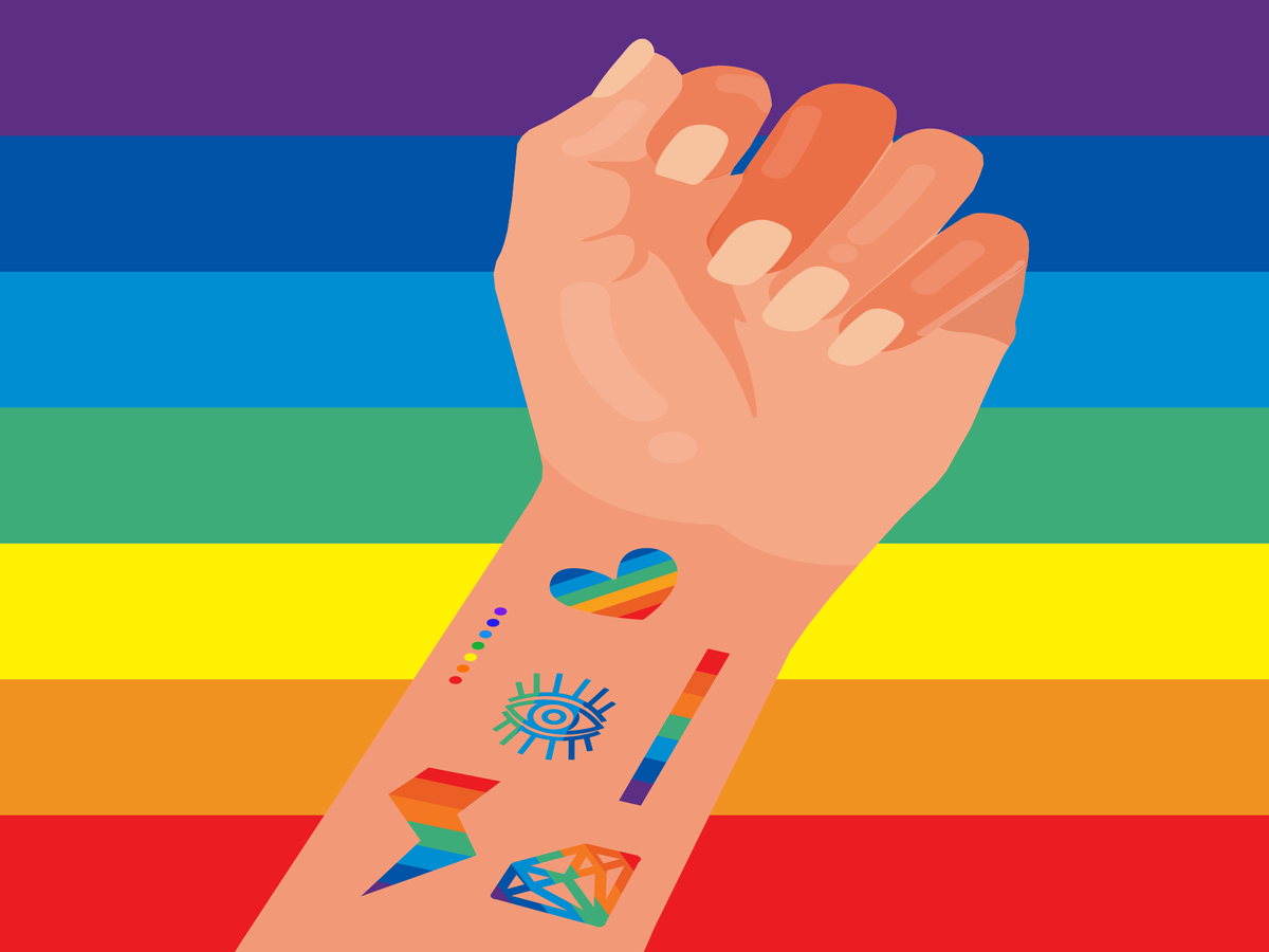 These Colorful Pride Tattoos Will Make You Want Ink