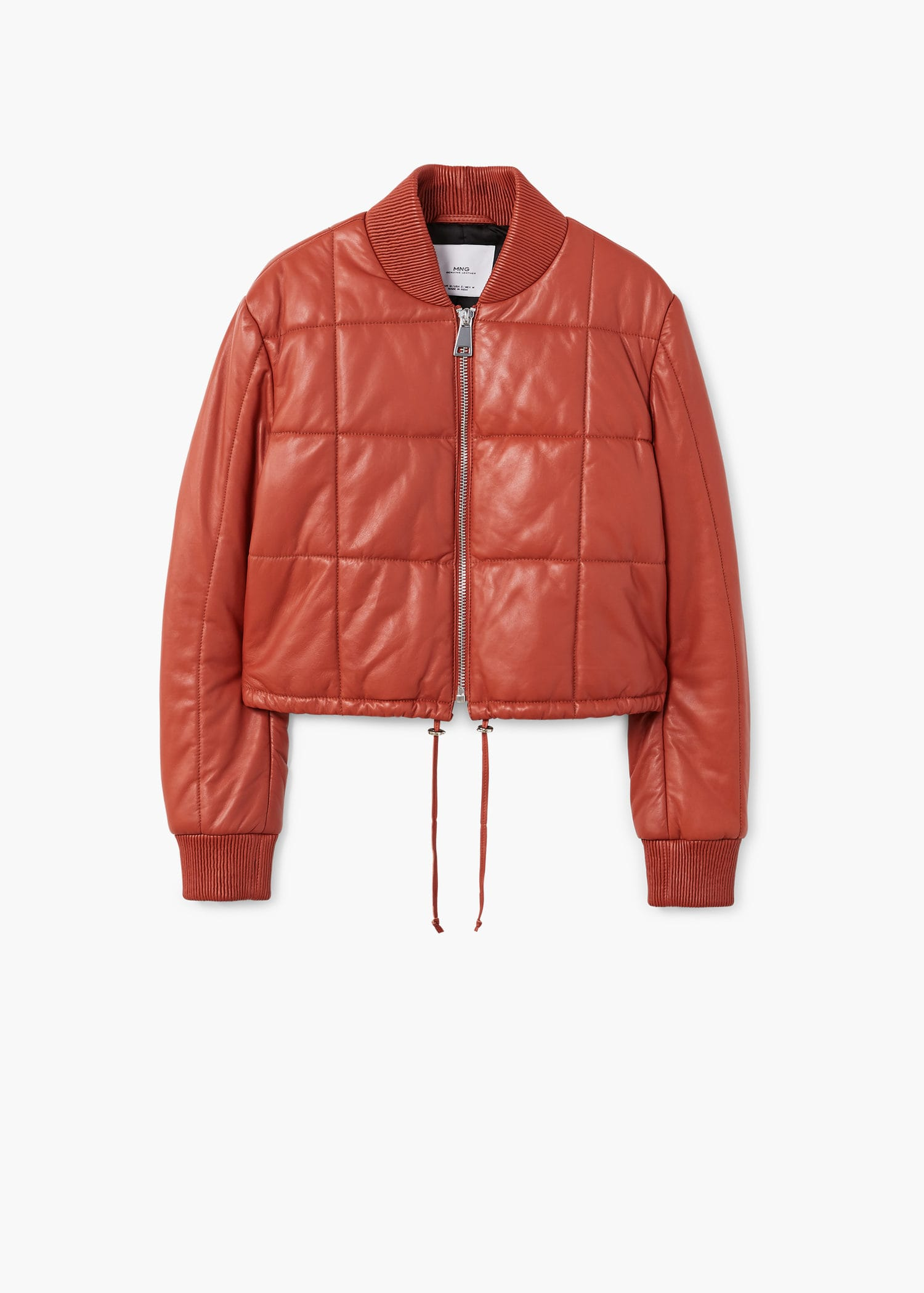 Mango. Quilted Leather Jacket