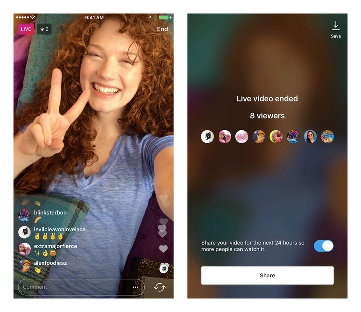 Instagram Now Allows Users to Save and Share Live Broadcasts