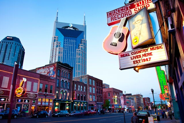 Nashville, tempat lahirnya musik country | Getty Images