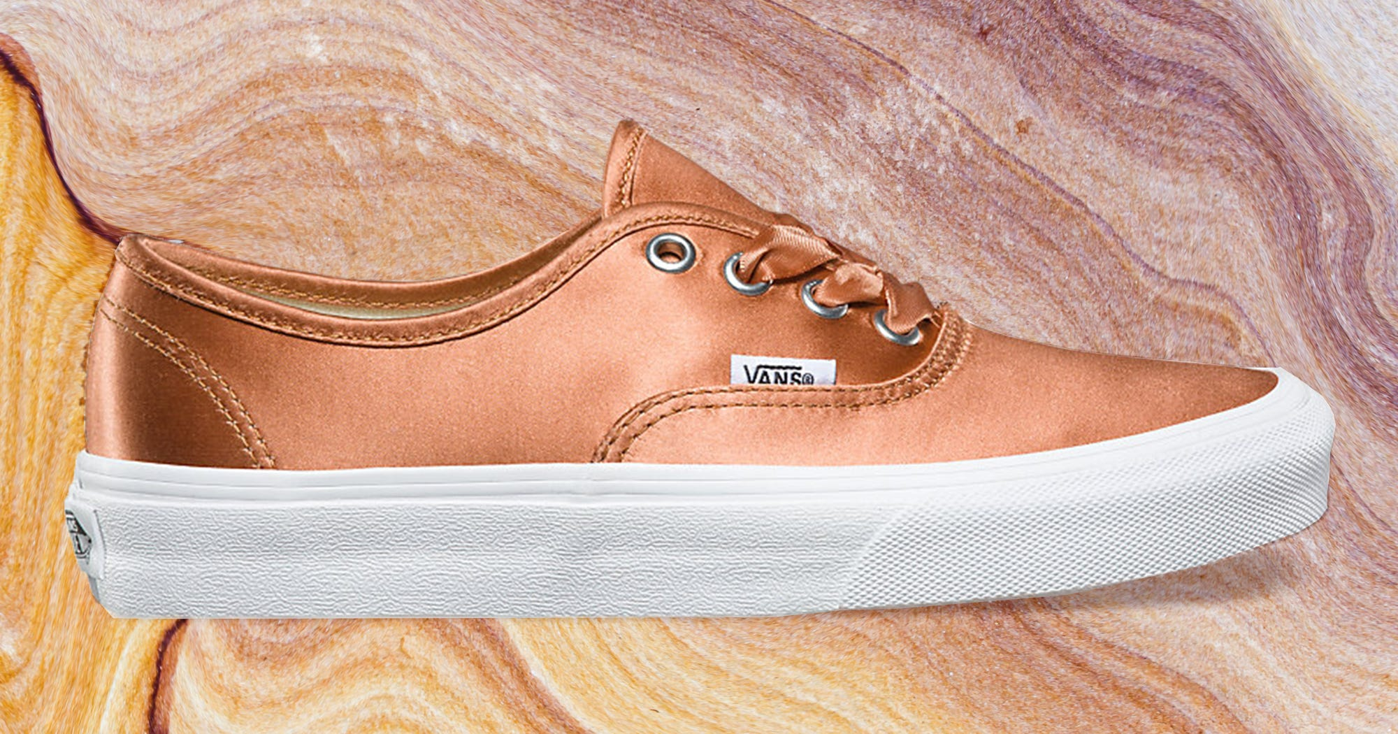 Shiny Rose Gold Vans Are Here!
