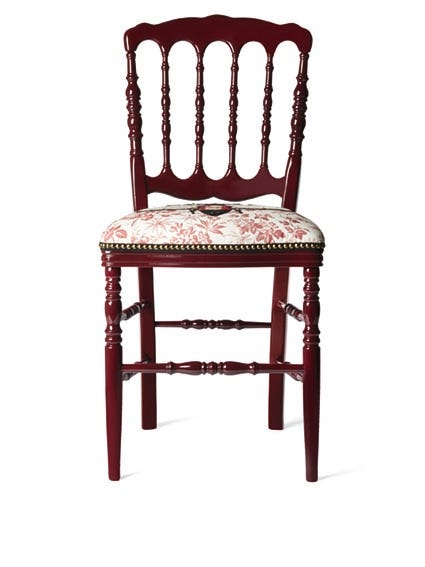 Gucci Wood Chair With Embroidered Bee, $2,600, Available At Gucci.