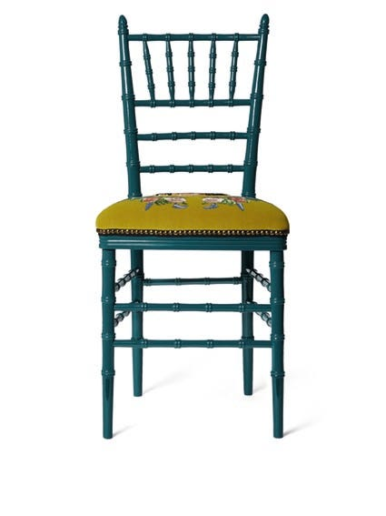 Perfect Gucci Chiavari Chair With Embroidered Tiger, $2,600, Available At Gucci.