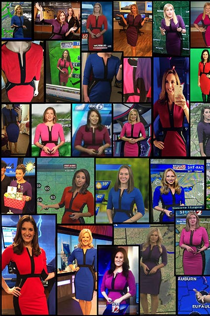 The reason meteorologists across the country wear the same dress ...