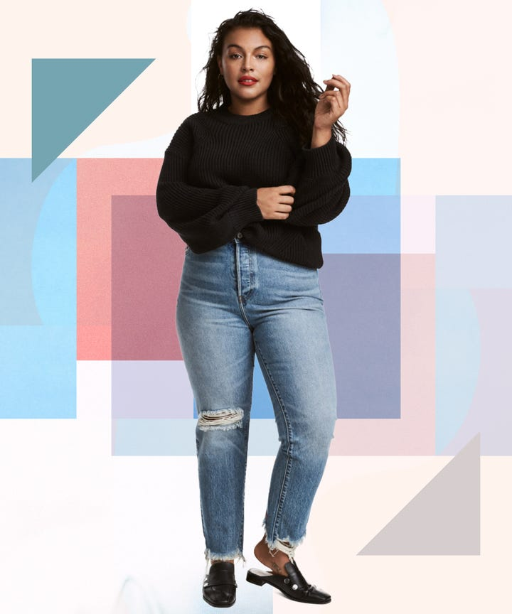 best plus size jeans - h&m, old navy, good american