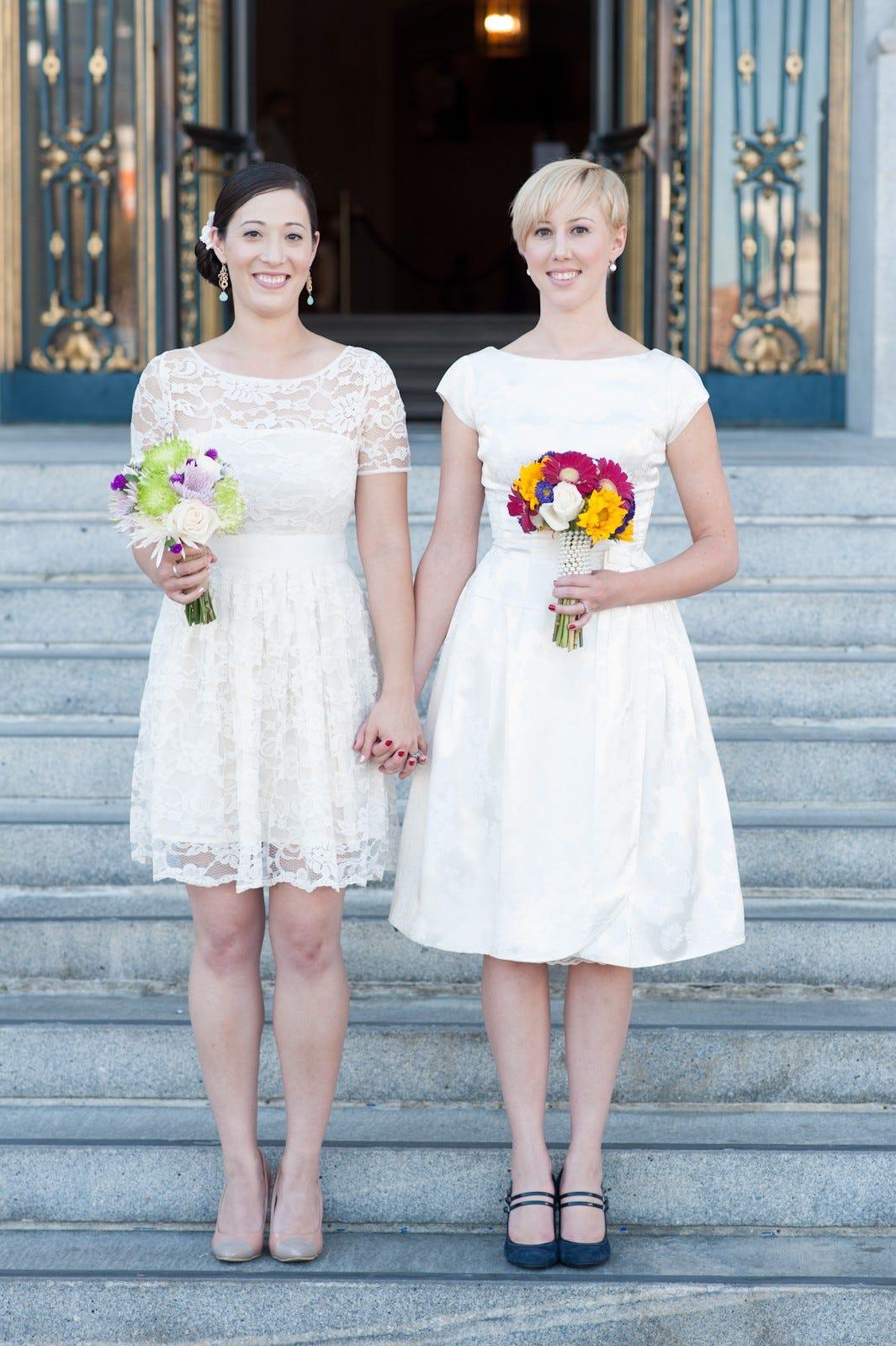 beautiful city hall wedding brides photos