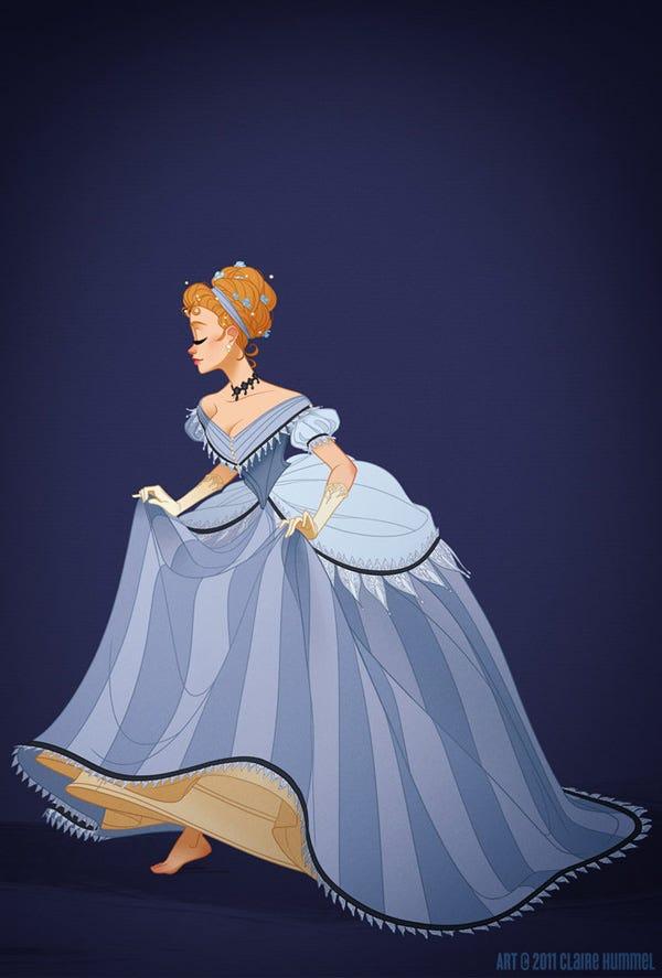 Red dress disney princess 9 bin