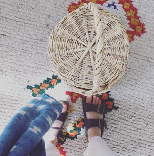 1ec7fe63a36 Birkin bag + Birkenstocks. So much summer in one outfit photo. Blooming  Dreamer Birkin Basket