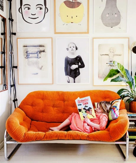colorful couches to make a big living room statement