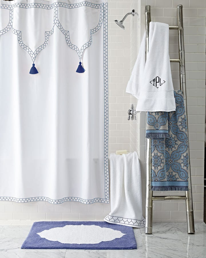 This Embroidered Shower Curtain Is Just The Fancy Accessory Your Bathroom  Needs For An Upgrade.
