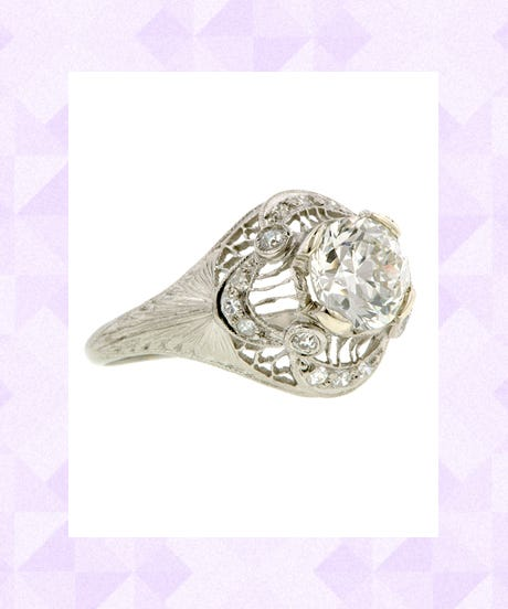 vintage engagement rings for the unconventional bride - Best Place To Buy A Wedding Ring