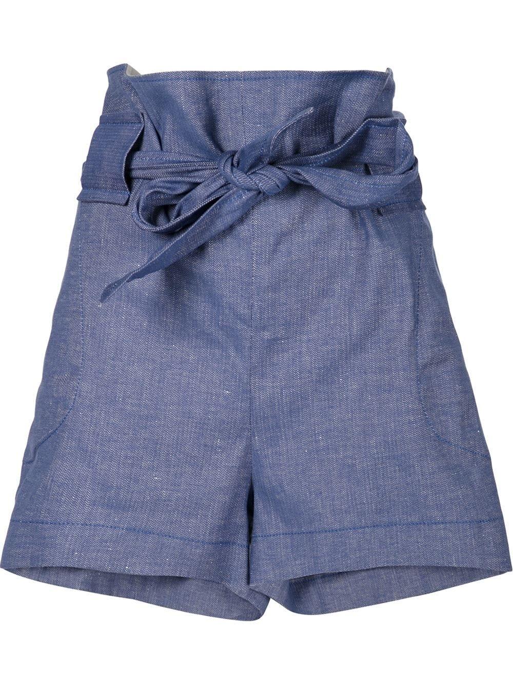 High-Waisted Shorts - Denim Shorts, Trend, Flattering