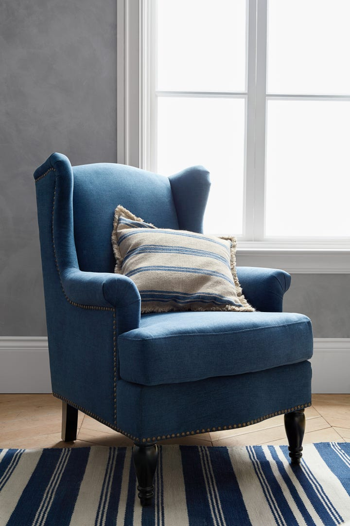 Just A Quick Glance In This Chairu0027s Direction And Weu0027re Already Picking Out  All The Books We Want To Read While Curled Up In It. Pottery Barn ...