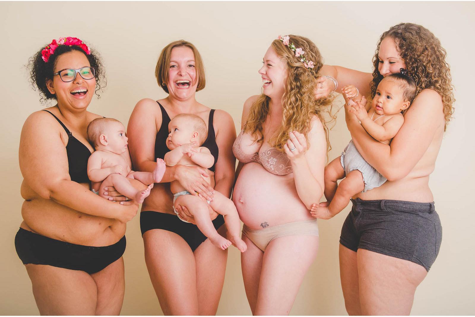 16 Honest Photos Show A Full Spectrum Of Post-Baby Bodies