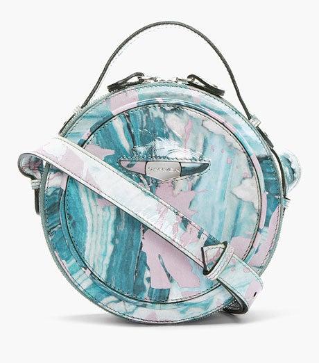 CARVEN_TEAL-PATENT-LEATHER-MARBLED-ROUND-SHOULDER-BAG_$570_Ssense-460