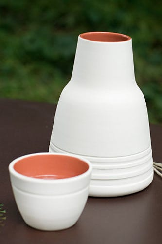Pigeon Toe Ceramics Banded Bedside Caraffe 84 Available At