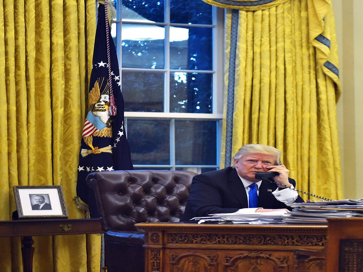 The Oval Office Got A Very Trump Makeover