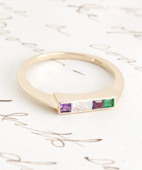 1909-ADORE-Ring-(14K-yellow-gold,-amethyst,-diamond,-opal,-ruby,-emerald)-$850-main