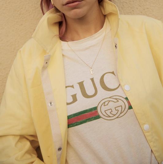 gucci yellow shirt. photo via @alwaysjudging. gucci yellow shirt