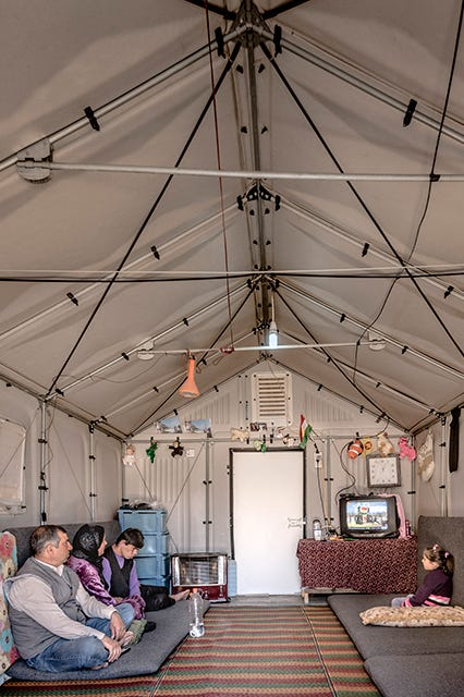 Better Shelter temporary homes for Syrian refugees by Ikea Foundation