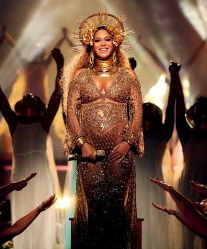 Beyonce Grammys Dress Face Cherubs Sun Meaning Custom