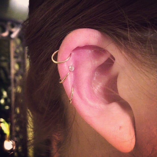 Does a man wear an earring in his left ear or his right ear?