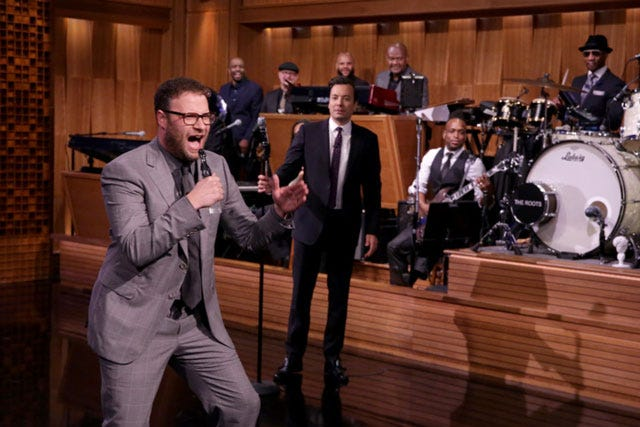 Seth Rogen crushes Jimmy Fallon in Lip Sync Battle