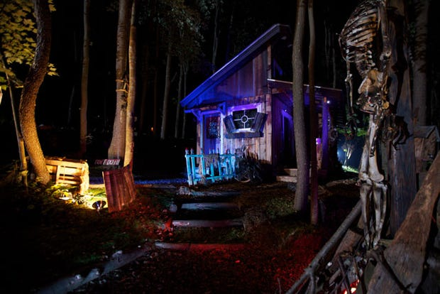 these tiny houses are big on halloween spirit