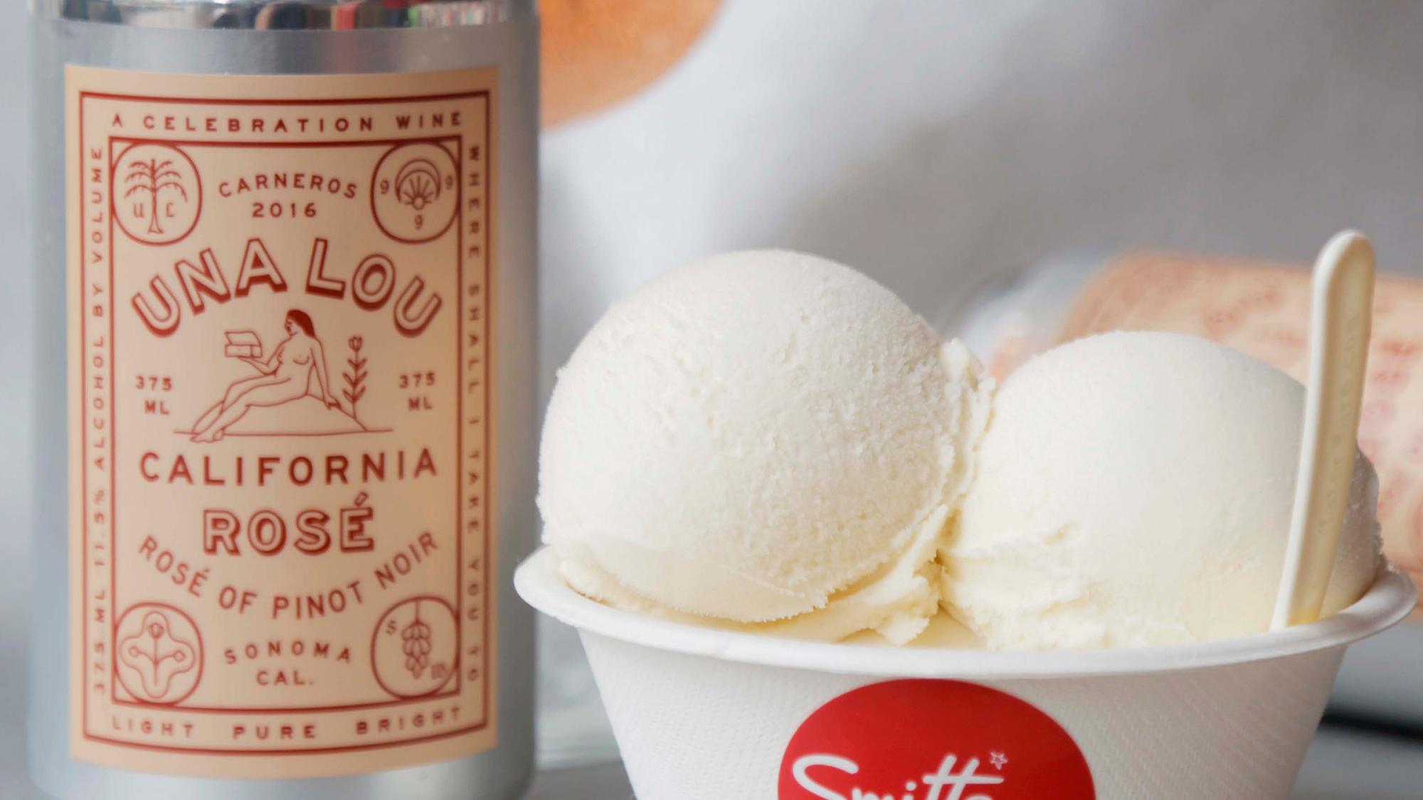 Smitten Ice Cream Logo sonoma rose smitten ice cream