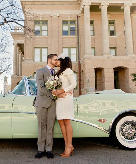... Married In Texas This February, She Had A Morning Civil Ceremony At The  Historic Williamson County Courthouse Followed By A Brunch Reception At  Lamberts ...