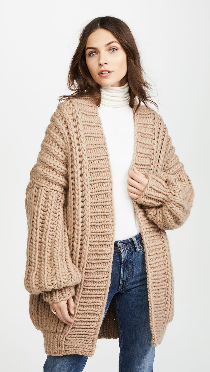 Long Cardigan Sweaters Fall 2017 Trend
