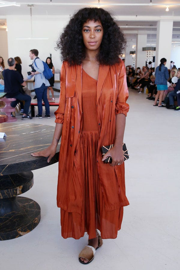 Paparazzi Files. Solange Steps Out in Milly, Rachel Comey and Teva ...