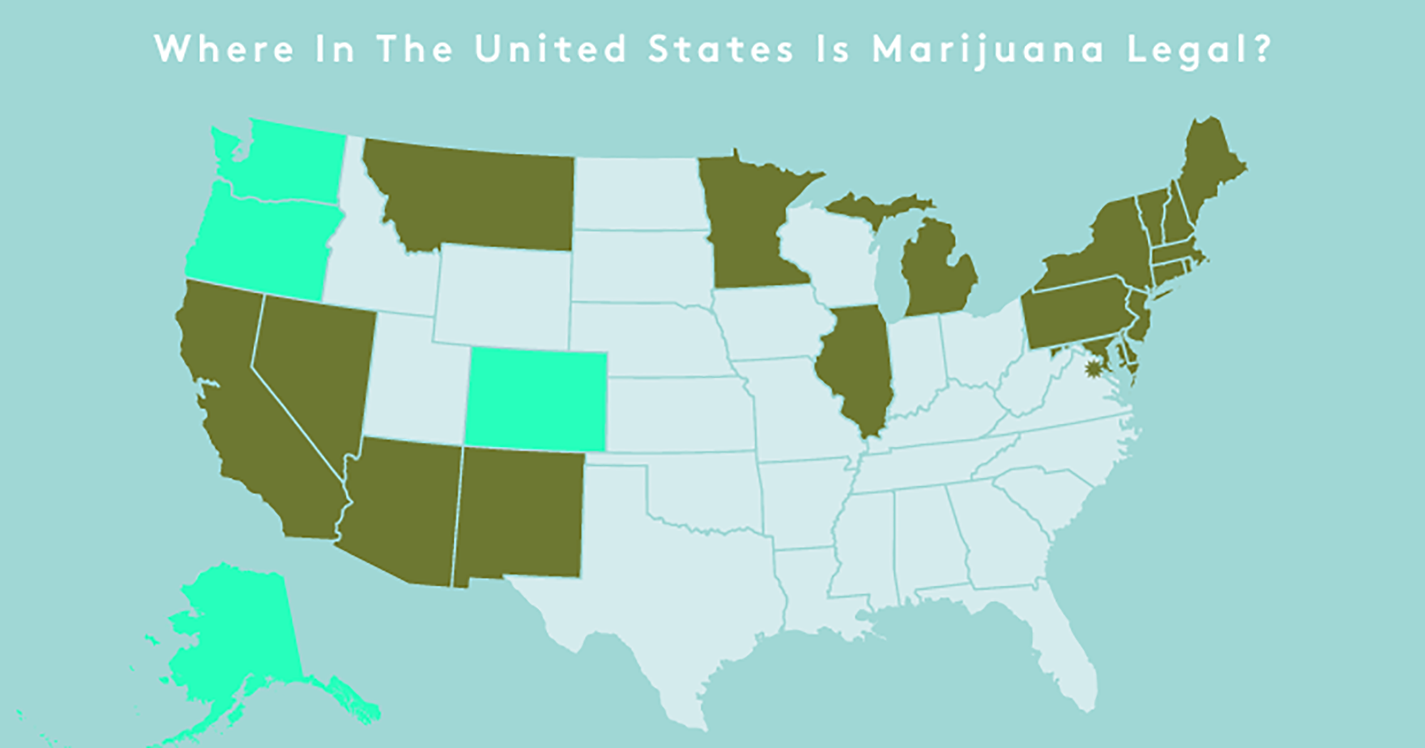 Where Is Weed Legal Recreational Weed States - Us map on weed laws