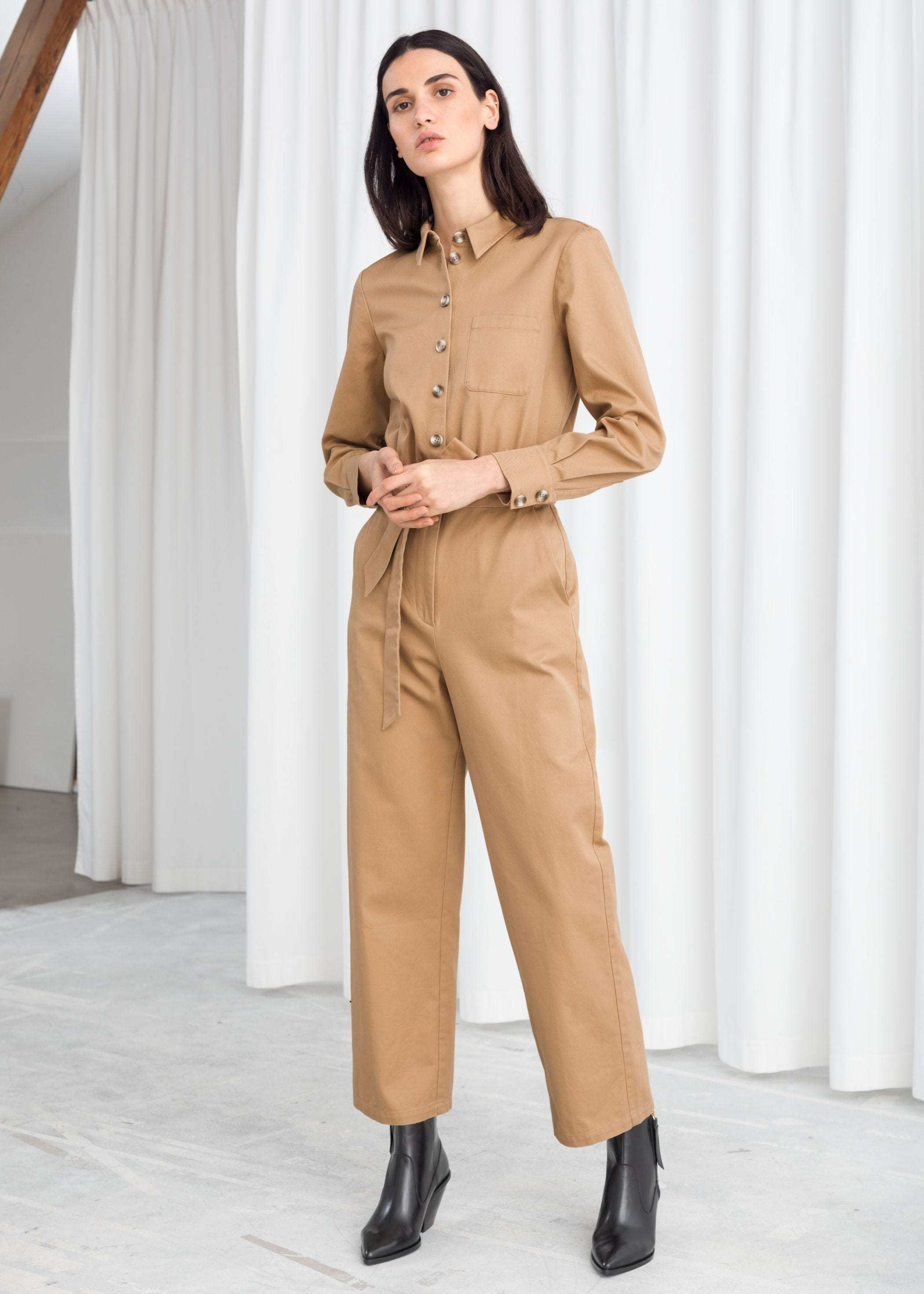 Anewsex Womens Spring Long Playsuits Wide Leg Trousers Jumpsuit Dot