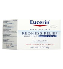 Remember that frigid day last week when you were waiting on the drafty platform for the train? Well, it did a number on your skin. This gentle gel-crème provides immediate redness relief while soothing and hydrating an irritated complexion.      Eucerin Redness Relief Soothing Night Creme, $14.49, available at Walgreens.