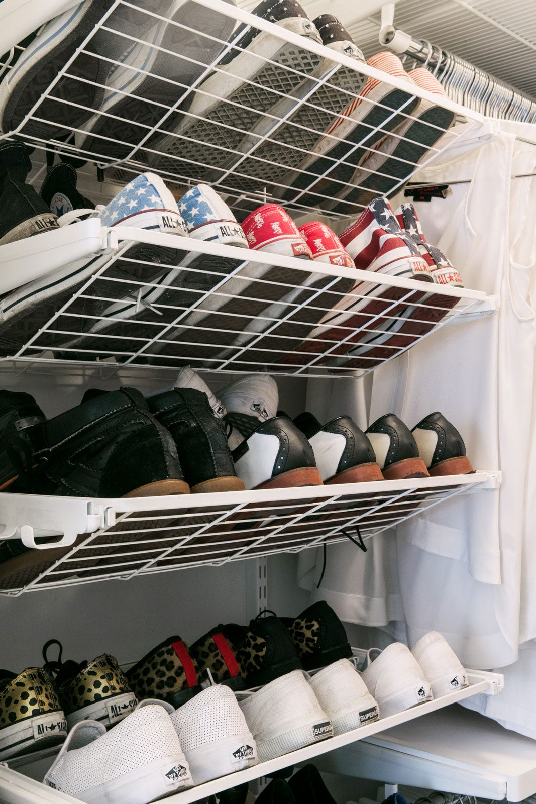 How To Organize Your Closet Walk In Shoe Shelves