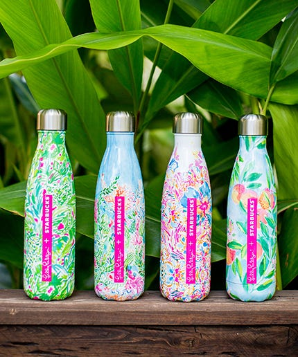 Starbucks Lilly Pulitzer Limited Edition Swell Bottles