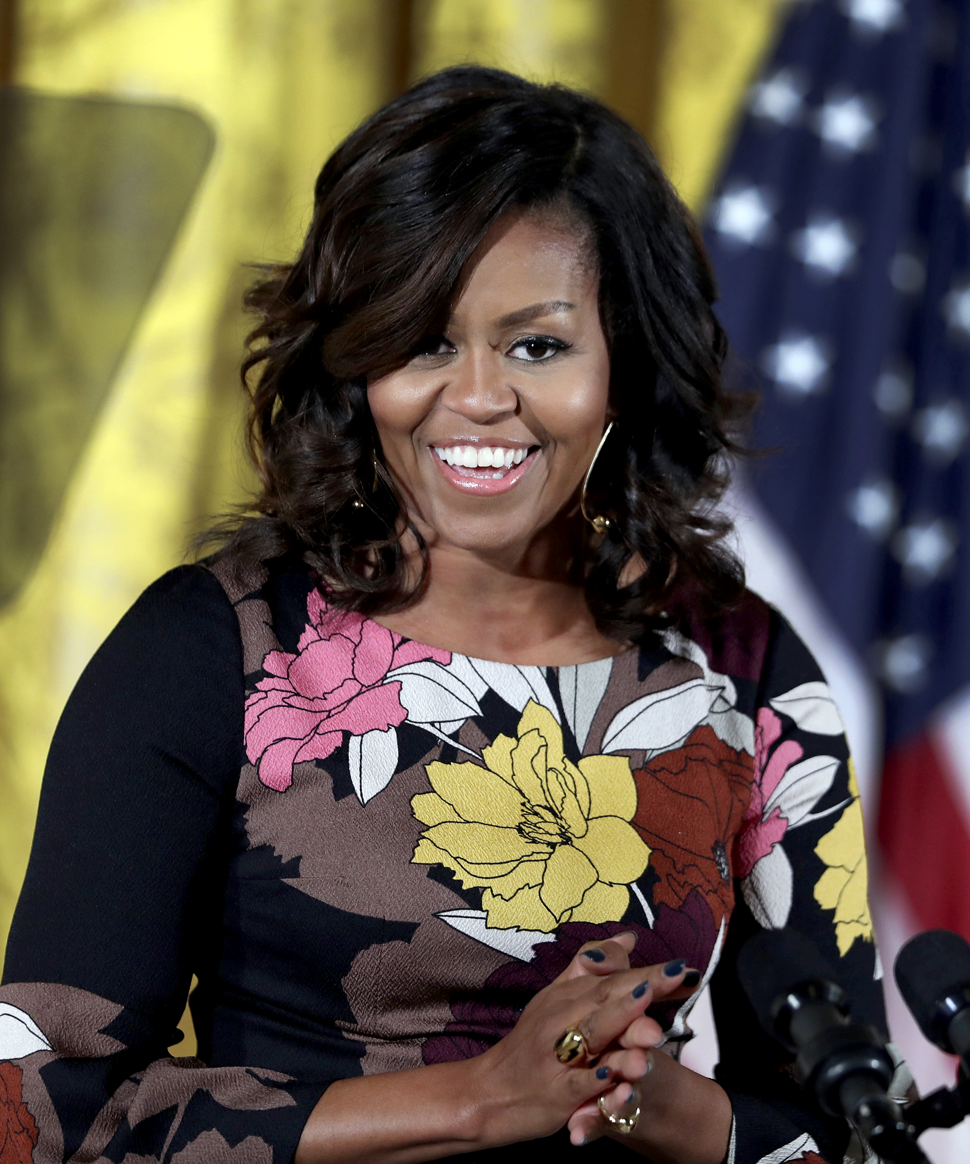 michelle obama natural hair curls twitter reactions