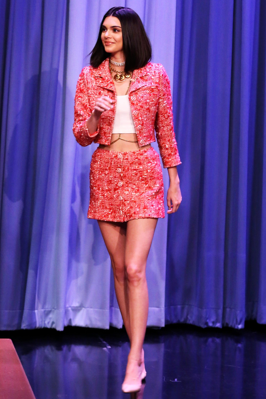 Kendall Jenner Runway Tip Tonight Show Fashion Week