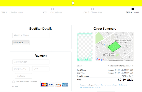 How to create your own snapchat geofilter for How to make a geofilter without photoshop