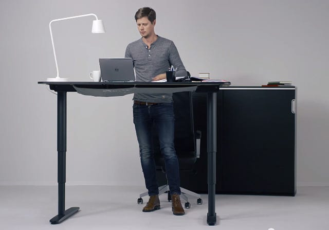 ikea introduces sit and standing desk bekant connect social share. Black Bedroom Furniture Sets. Home Design Ideas