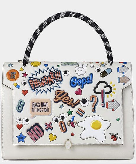 Anya Hindmarch Spring 2015 Sticker Up Bag Adhesives