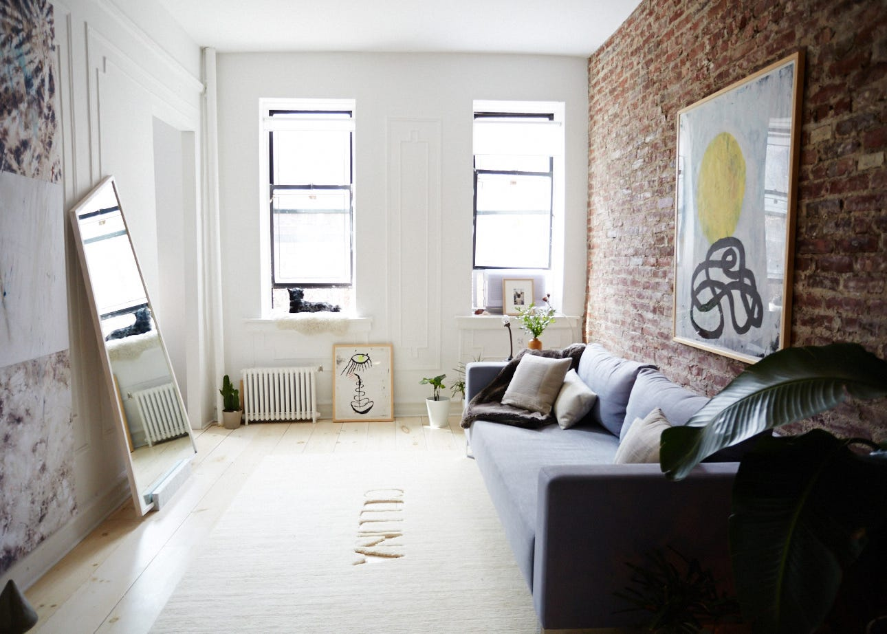 Brooklyn minimalist apartment tour for Minimalist bedroom tour