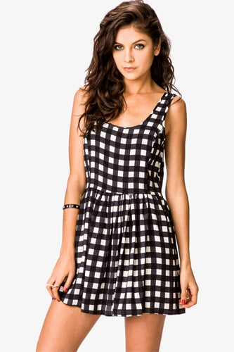Charming Warm Weather Vintage Inspired Frocks Featuring: Gingham Shirt, Dress Styles