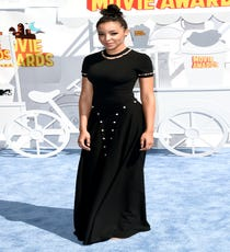 At first glance, Tinashe's Adam Selman dress looked like a simple '80s-style maxi, but the gently arching double row of pearls on the hips and hems give this plain shape a lot of character.For A Similar Style Try:Adam Selman Flirty Gown, $1195, available at Opening Ceremony.