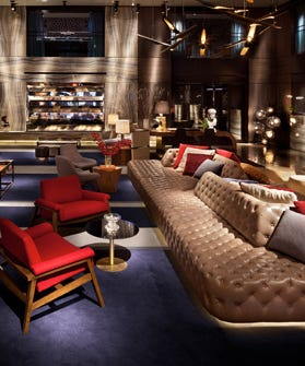 Living Room W Hotel Nyc: Paramount Hotel Opening 2013