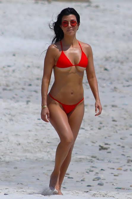 Kourtney Kardashian Underboob Bikini Vacation Photos