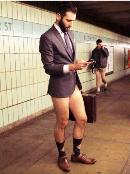 No Pants Subway Day Looks