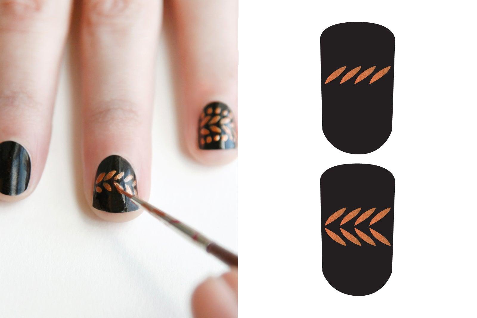Как сделать легко рисунок на ногтях в домашних условиях